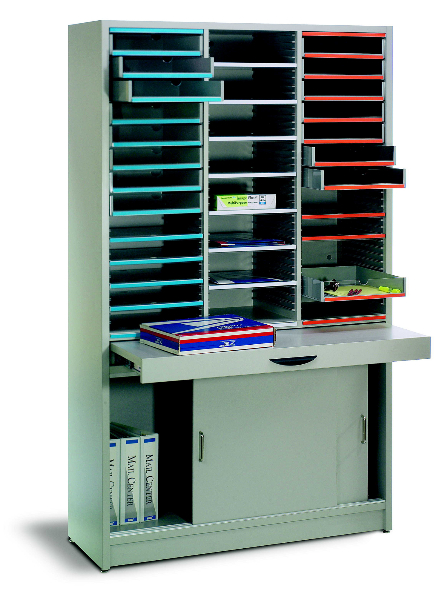 Pull Out Worksurface Gives You A Place To Work From In Your Mailroom System