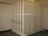 Art rack sliding shelving system