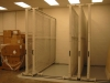 Art storage slides to open the aisle