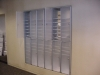 Mail slots in wall mail sorting system in your mailroom