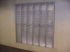 Mail slots with frosted doors in your mailroom