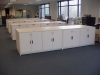 Lateral laminate cabinets any size in your mailroom