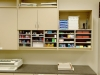 Upper cabinets attach right to the wall in your mailroom