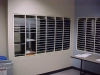 Mail slots in a wall in your mailroom