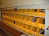 Evidence storage in bins in the carousel