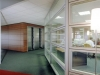 Demountable walls with turn in the glass
