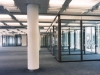 Glass walls with vertical segment look