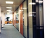 Motorized blinds in the glass walls is an option