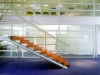 Tall glass demountable mobile walls with middle segment solid