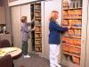 Locking rotary file cabinets