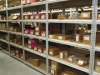Four post shelving for warehouses