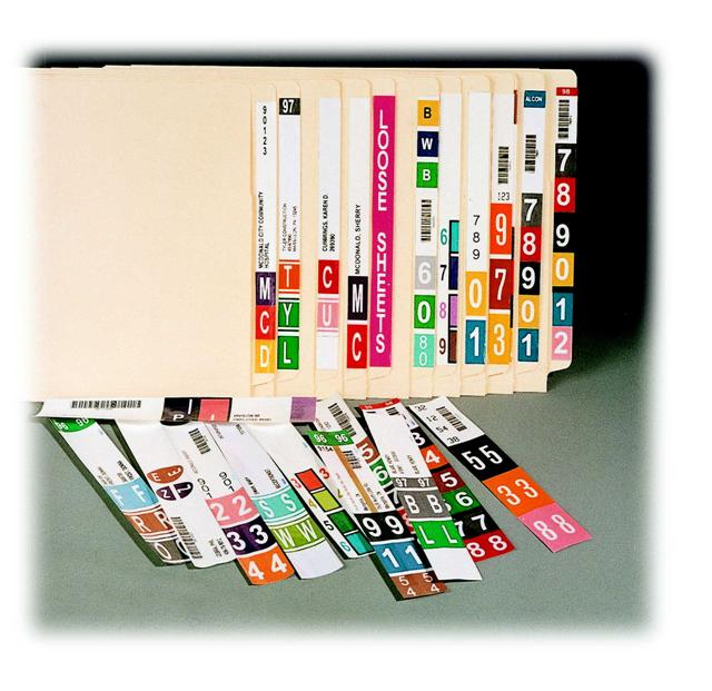 File Labeling Software, Color Coded End Tab File Labeling