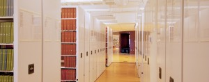 High Density Library Shelving White End Panels