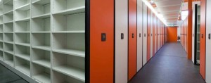 High Density Orange and white File Shelving