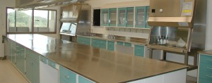 Hospital Lab Stainless Steel Casework Furniture resists germs