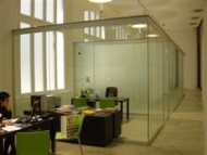 Glass Demountable Walls for offices reduce sound
